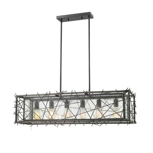 Stanwood Bronze Six-Light Linear Pendant