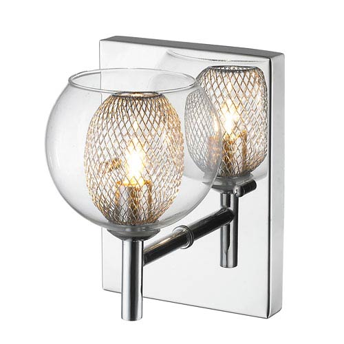 Auge Mirror Stainless Steel LED Wall Sconce