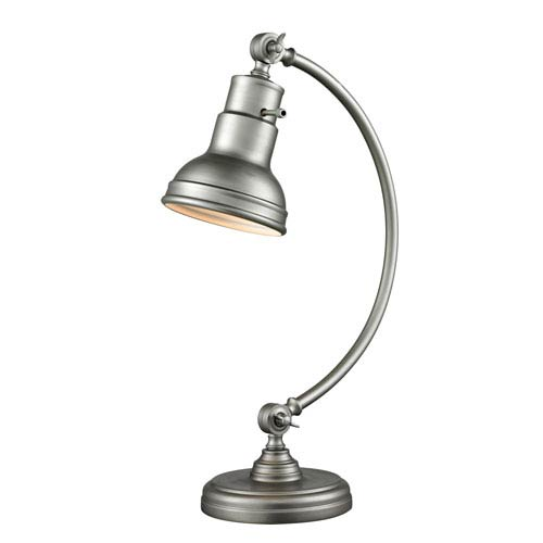 Z-Lite Ramsay Burnished Silver One-Light Table Lamp
