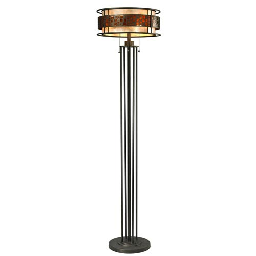 Oak Park Bronze Three-Light Floor Lamp