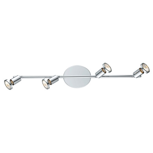 Buzz Chrome Four-Light Track Light