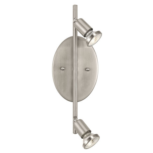 Buzz Brushed Nickel Two-Light Track Light