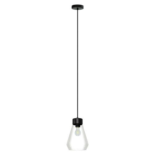 EGLO Montey Matte Black One-Light Mini Pendant