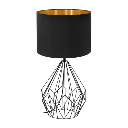 Matte Black 25-Inch One-Light Table Lamp