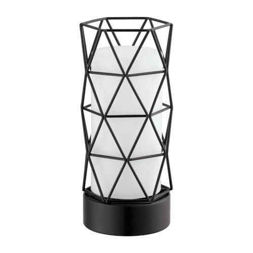 Estevau 2 Matte Black One-Light Table Lamp