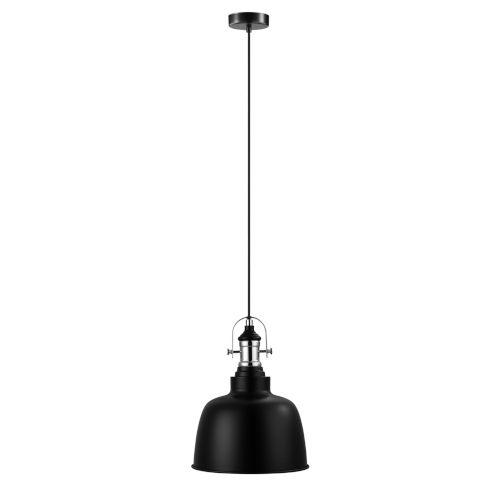 Gilwell Matte Black and Chrome One-Light Mini Pendant
