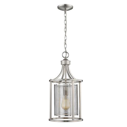Verona Brushed Nickel One-Light Pendant