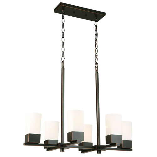 Ciara Springs Oil Rubbed Bronze Six-Light Pendant