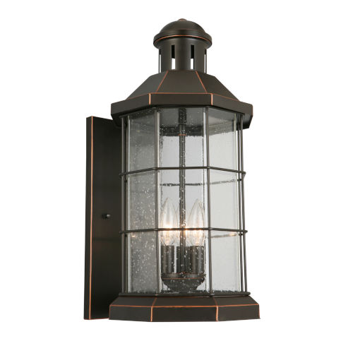 San Mateo Creek Oil Rubbed Bronze Three-Light Outdoor Wall Sconce
