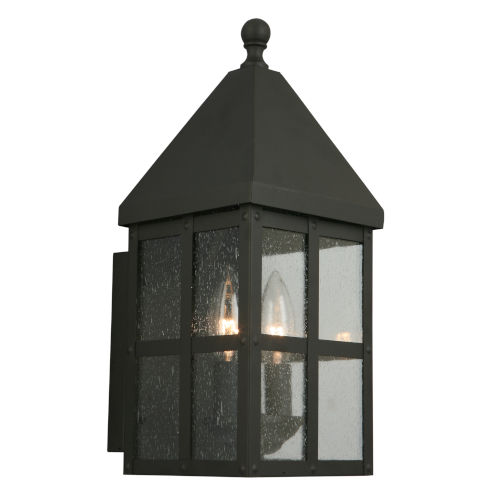 EGLO Creston Creek Matte Black One-Light Outdoor Wall Mount