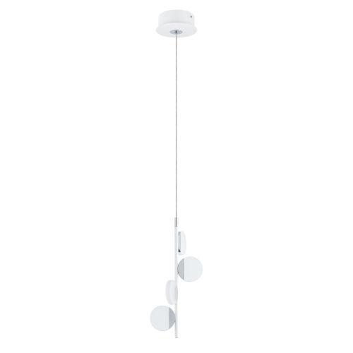 Olindra White and Chrome Seven-Inch Four-Light LED Mini Pendant