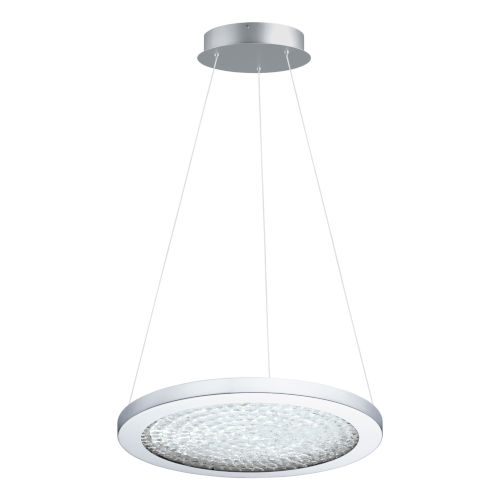 Arezzo 3 Chrome 15-Inch LED Pendant with Clear Crystals