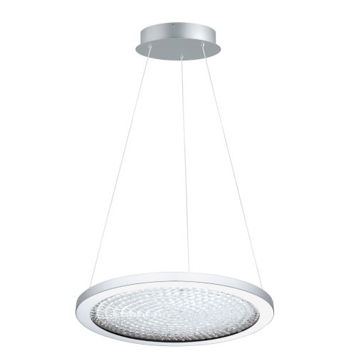 Arezzo 3 Chrome 18-Inch LED Pendant with Clear Crystals