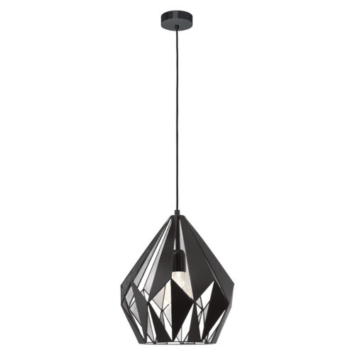 Black and Silver One-Light Pendant with Black Exterior and Silver Interior Metal Shade