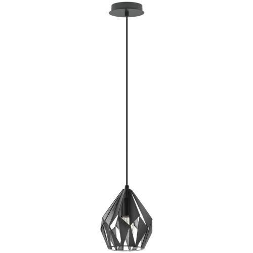 Black and Silver 8-Inch One-Light Mini Pendant with Black Exterior and Silver Interior Metal Shade