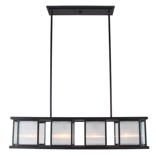 Henessy Black and Brushed Nickel 10-Inch Four-Light Mini Pendant
