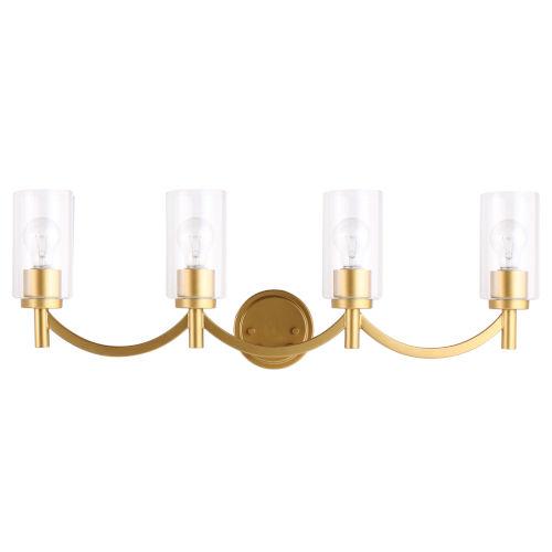 Devora Antique Gold Six-Inch Four-Light Bath Vanity