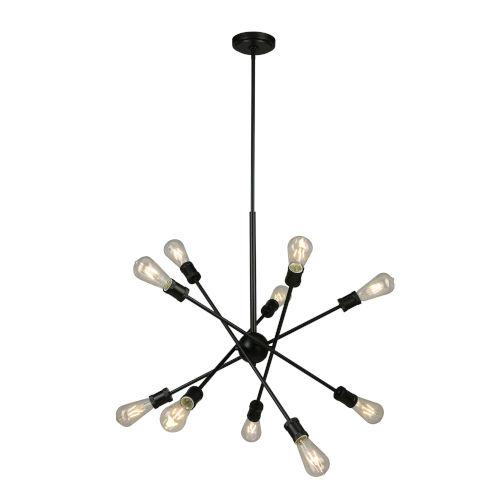 Etris Row Black 10-Light Pendant