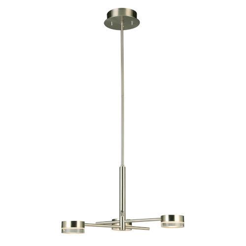 Transton Brushed Nickel Three-Light LED Chandelier