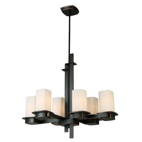 Vlacker Bronze Six-Light Chandelier