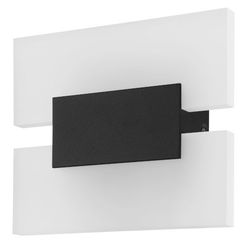 Metrass 2 Black Two-Light LED Wall Sconce