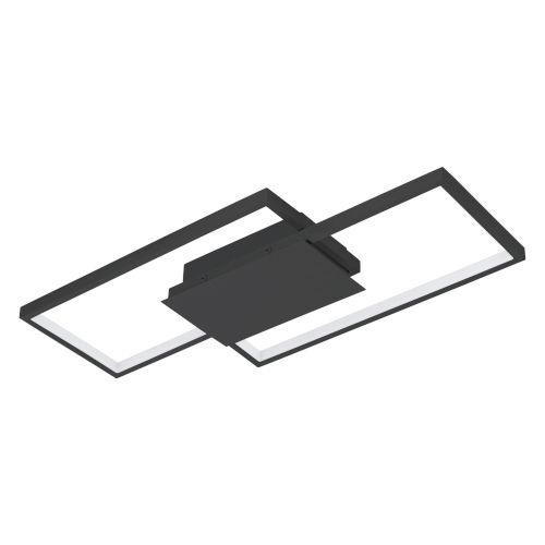 Milanius Black 20-Inch LED Flush Mount