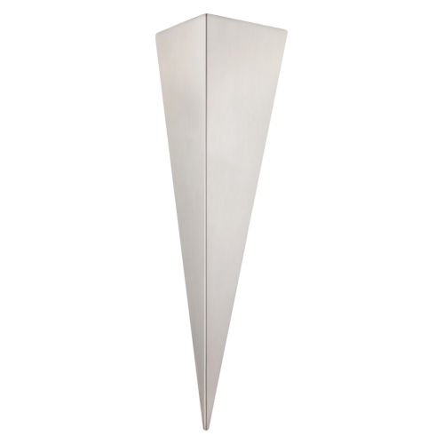 Trigo 3 Silver One-Light Wall Sconce with Silver Stainless Steel Shade