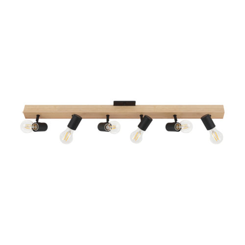 Kingswood Black and Natural Six-Light Track Light