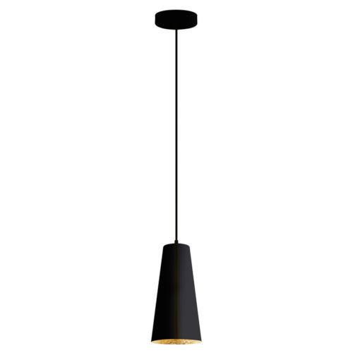 Pratella 1 Black and Gold One-Light Pendant