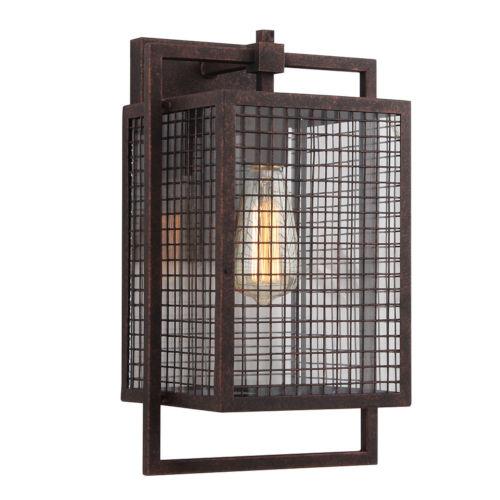 Garraux Rust Nine-Inch One-Light Wall Sconce