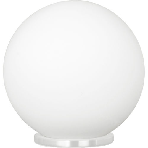 Rondo White One-Light Table Lamp with Opal Frosted Glass Shade