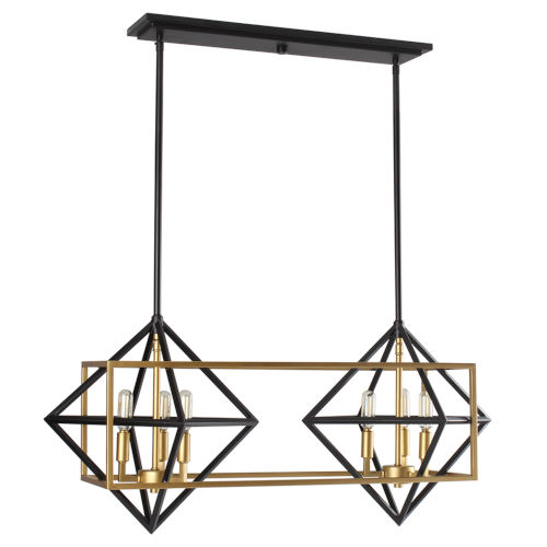 Pryor Black and Gold Five-Light Pendant