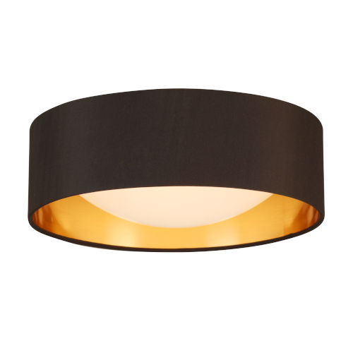 Orme Black and Gold LED 12-Inch Flush Mount