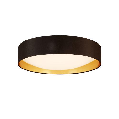 Orme Black and Gold LED 20-Inch Flush Mount