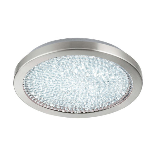 Arezzo 2 Matte Nickel 14-Inch LED Flush Mount with Clear Crystals