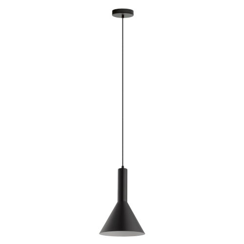 Canalello Black and White Nine-Inch One-Light Mini Pendant