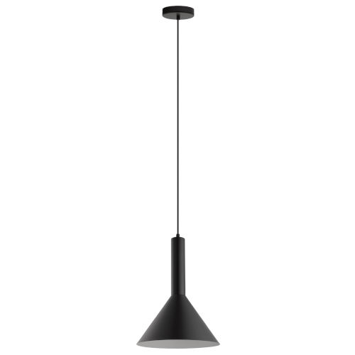 Canalello Black and White 12-Inch One-Light Pendant