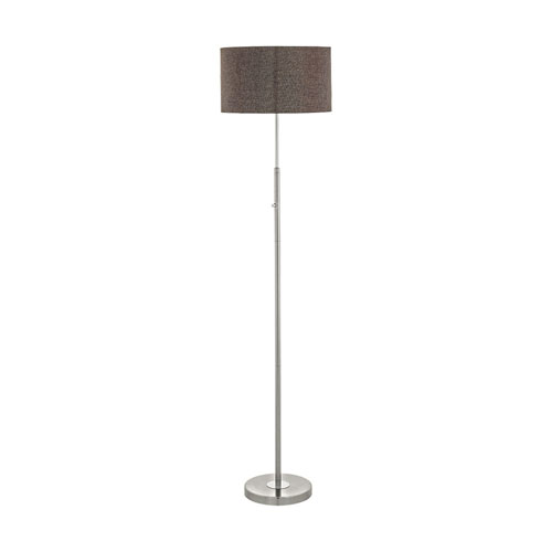EGLO Romao 2 Satin Nickel and Chrome LED Floor Lamp