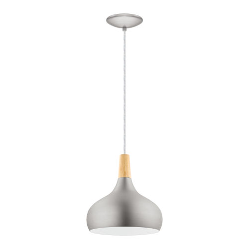 Sabinar Brushed Nickel 11-Inch One-Light Pendant