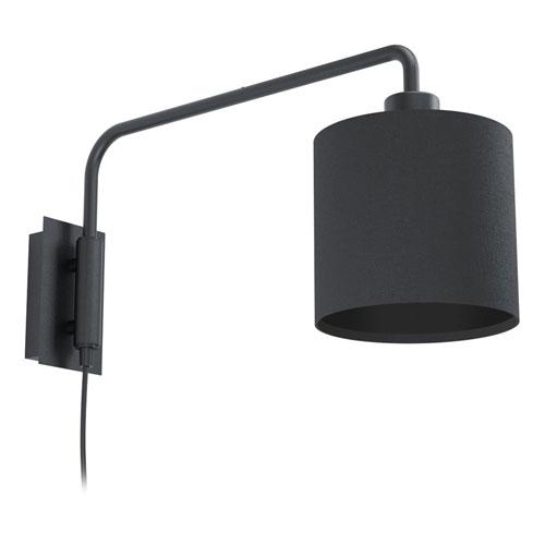 Saiti 1 Matte Black One-Light Wall Sconce