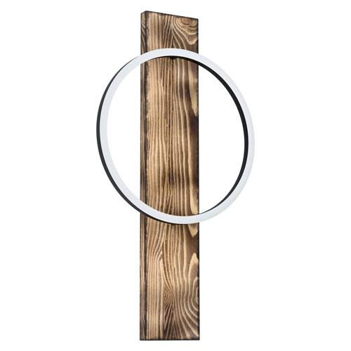 Boyal Brushed Pine Wood Integrated LED Wall Sconce