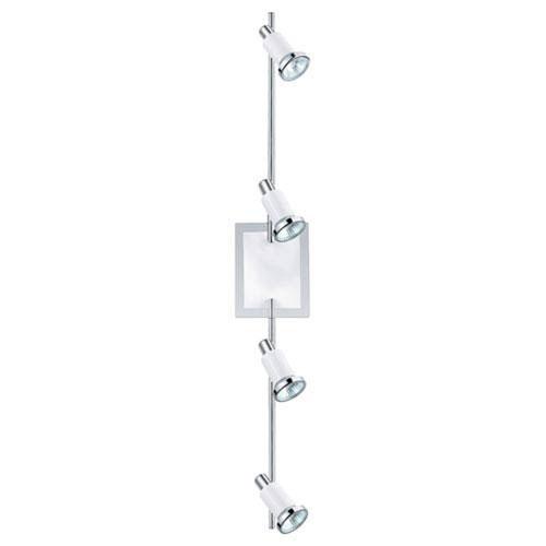 Manning Chrome and Shiny White Four-Light LED Track Lighting Package