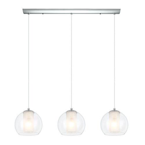 Milli Modern Lighting Juniper Chrome Three-Light Pendant