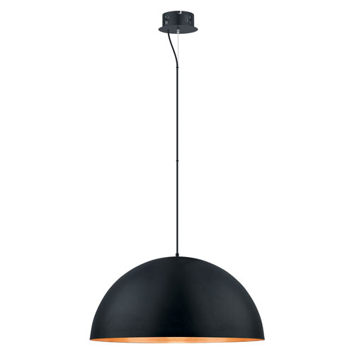 Marielle Black and Gold 31-Inch LED Pendant