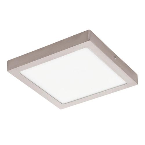 Milli Modern Lighting Patrick Matte Nickel 12 Inch Led Square Flush Mount