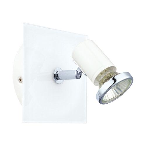 Barre White and Chrome One-Light Track Light