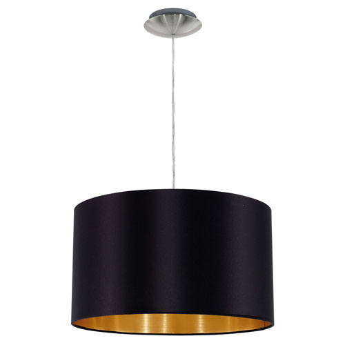 Charlotte Black and Gold One-Light Pendant