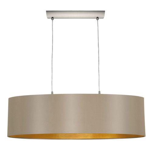 Milli Modern Lighting Charlotte Matte Nickel Two-Light Pendant