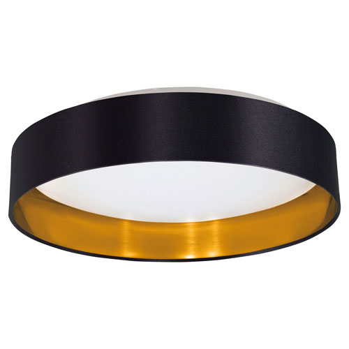 Charlotte Black, Gold LED Flush Mount