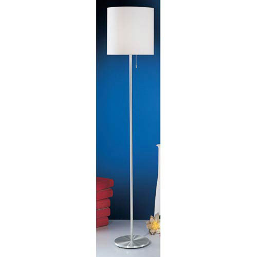 Nore Aluminum One-Light Shaded Floor Lamp